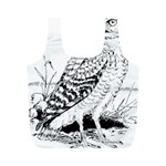 Animal Bird Forest Nature Owl Full Print Recycle Bags (M)