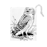 Animal Bird Forest Nature Owl Drawstring Pouches (Large)