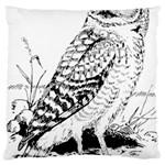 Animal Bird Forest Nature Owl Large Flano Cushion Case (Two Sides)