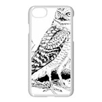 Animal Bird Forest Nature Owl Apple iPhone 7 Seamless Case (White)