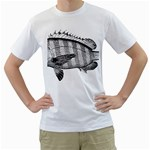 Animal Fish Ocean Sea Men s T-Shirt (White) (Two Sided)