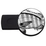 Animal Fish Ocean Sea USB Flash Drive Round (2 GB)