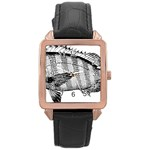 Animal Fish Ocean Sea Rose Gold Leather Watch