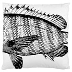 Animal Fish Ocean Sea Large Flano Cushion Case (Two Sides)