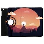 Design Art Hill Hut Landscape Apple iPad Mini Flip 360 Case