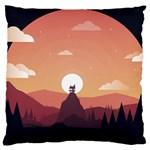Design Art Hill Hut Landscape Standard Flano Cushion Case (Two Sides)