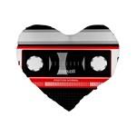 Compact Cassette Musicassette Mc Standard 16  Premium Heart Shape Cushions