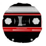 Compact Cassette Musicassette Mc Large 18  Premium Flano Round Cushions
