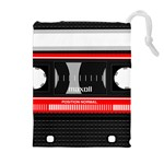 Compact Cassette Musicassette Mc Drawstring Pouches (Extra Large)