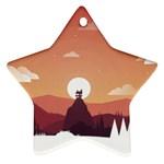 Design Art Hill Hut Landscape Ornament (Star)
