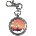 Design Art Hill Hut Landscape Key Chain Watches