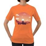 Design Art Hill Hut Landscape Women s Dark T-Shirt