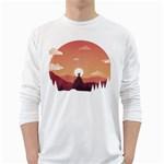 Design Art Hill Hut Landscape White Long Sleeve T-Shirts