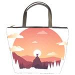 Design Art Hill Hut Landscape Bucket Bags