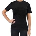Brain Chart Diagram Face Fringe Women s T-Shirt (Black) (Two Sided)