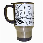 Brain Chart Diagram Face Fringe Travel Mugs (White)