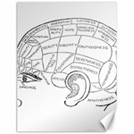 Brain Chart Diagram Face Fringe Canvas 18  x 24
