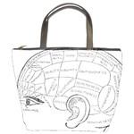 Brain Chart Diagram Face Fringe Bucket Bags