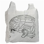 Brain Chart Diagram Face Fringe Recycle Bag (Two Side)