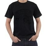 Brain Chart Diagram Face Fringe Men s T-Shirt (Black)