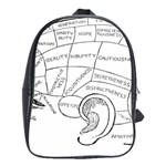 Brain Chart Diagram Face Fringe School Bag (Large)
