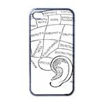 Brain Chart Diagram Face Fringe Apple iPhone 4 Case (Black)