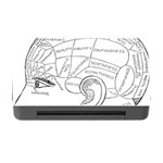 Brain Chart Diagram Face Fringe Memory Card Reader with CF