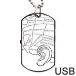 Brain Chart Diagram Face Fringe Dog Tag USB Flash (One Side)