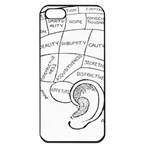 Brain Chart Diagram Face Fringe Apple iPhone 5 Seamless Case (Black)