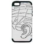 Brain Chart Diagram Face Fringe Apple iPhone 5 Hardshell Case (PC+Silicone)