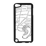 Brain Chart Diagram Face Fringe Apple iPod Touch 5 Case (Black)