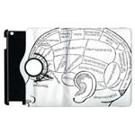 Brain Chart Diagram Face Fringe Apple iPad 3/4 Flip 360 Case