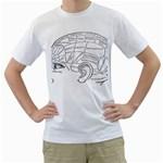 Brain Chart Diagram Face Fringe Men s T-Shirt (White)