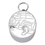 Brain Chart Diagram Face Fringe Mini Silver Compasses