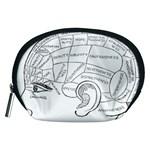 Brain Chart Diagram Face Fringe Accessory Pouches (Medium)