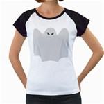 Ghost Halloween Spooky Horror Fear Women s Cap Sleeve T
