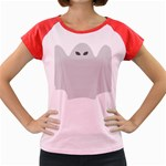 Ghost Halloween Spooky Horror Fear Women s Cap Sleeve T-Shirt