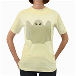 Ghost Halloween Spooky Horror Fear Women s Yellow T-Shirt