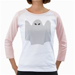 Ghost Halloween Spooky Horror Fear Girly Raglans