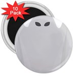 Ghost Halloween Spooky Horror Fear 3  Magnets (10 pack)