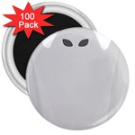 Ghost Halloween Spooky Horror Fear 3  Magnets (100 pack)
