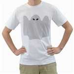 Ghost Halloween Spooky Horror Fear Men s T-Shirt (White) (Two Sided)
