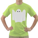 Ghost Halloween Spooky Horror Fear Green T-Shirt