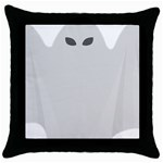 Ghost Halloween Spooky Horror Fear Throw Pillow Case (Black)