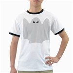 Ghost Halloween Spooky Horror Fear Ringer T-Shirts