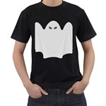 Ghost Halloween Spooky Horror Fear Men s T-Shirt (Black) (Two Sided)