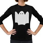 Ghost Halloween Spooky Horror Fear Women s Long Sleeve Dark T-Shirts