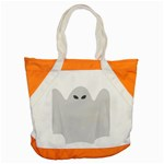 Ghost Halloween Spooky Horror Fear Accent Tote Bag
