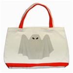 Ghost Halloween Spooky Horror Fear Classic Tote Bag (Red)