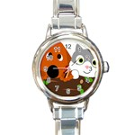 Baby Decoration Cat Dog Stuff Round Italian Charm Watch
